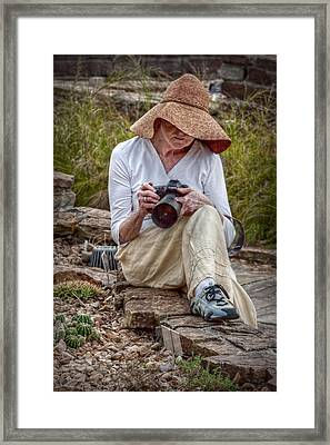 Photographer Framed Print by Linda Unger