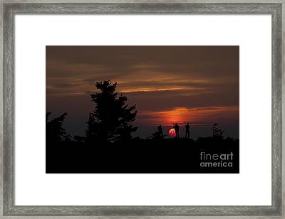Photographers Shooting Sunrise At Bear Rocks Framed Print by Dan Friend
