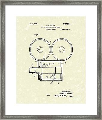 Photographic Camera 1929 Patent Art Framed Print by Prior Art Design