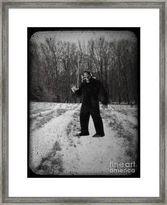 Photographic Evidence Of Big Foot Framed Print by Edward Fielding