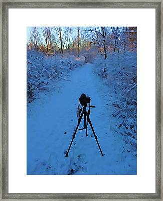 Photography In The Winter Framed Print by Dan Sproul