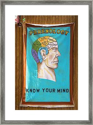 Phrenology Framed Print by Garry Gay