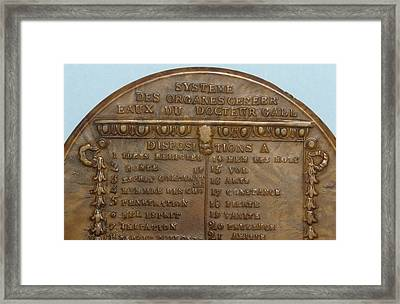 Phrenology Snuff Box Framed Print by Science Photo Library