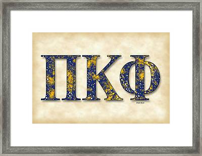 Pi Kappa Phi - Parchment Framed Print by Stephen Younts