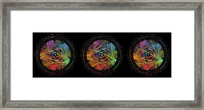 Pi Phi And E Transition Paths Framed Print by Martin Krzywinski