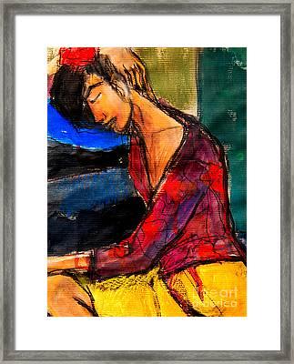 Pia #3 - Detail - Figure Series Framed Print by Mona Edulesco