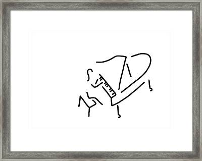 Pianist Piano Player Framed Print by Lineamentum