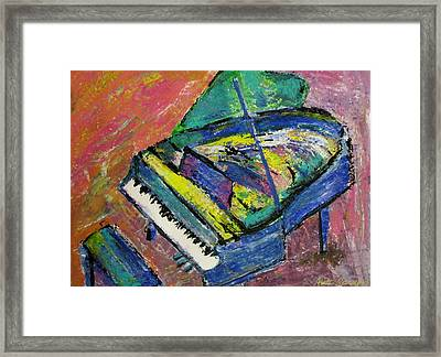 Piano Blue Framed Print by Anita Burgermeister