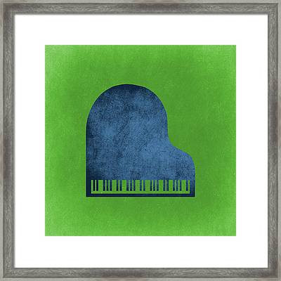 Piano Blues Framed Print by Flo Karp