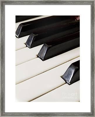 Piano Keys Framed Print by Jelena Jovanovic