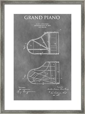 Piano Patent Framed Print by Dan Sproul
