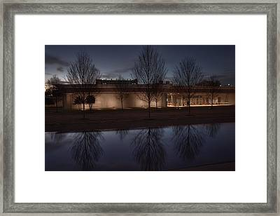 Piano Pavilion Night Reflections Framed Print by Joan Carroll