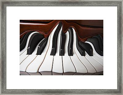 Piano Wave Framed Print by Garry Gay