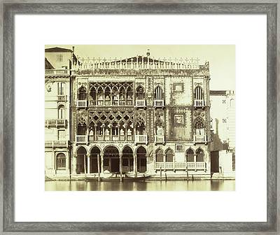 Piazza Ca Doro Sul Canal Grande Venice Italy Framed Print by Artokoloro