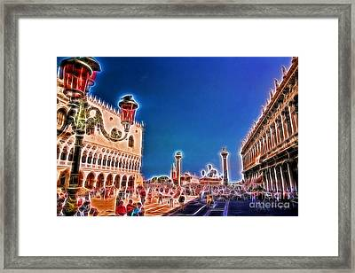 Piazza San Marco Framed Print by Allen Beatty