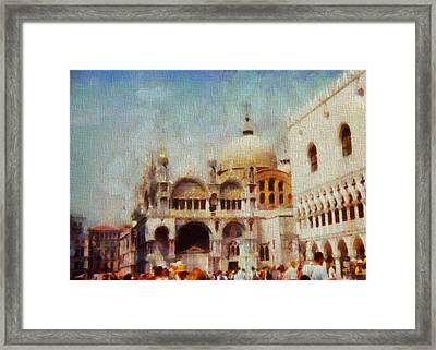 Piazza San Marco Framed Print by Dan Sproul