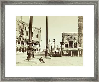 Piazza San Marco Italy, Attributed To Carlo Naya Framed Print by Artokoloro
