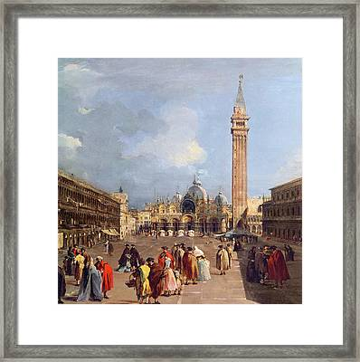 Piazza San Marco, Venice Framed Print by Francesco Guardi