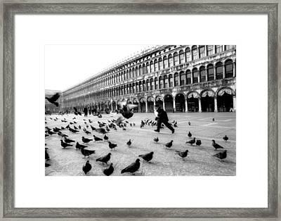 Piazza San Marco Venice Italy 1998 Framed Print by Heidi Wild