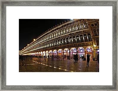 Piazza San Marco - Venise Framed Print by Cedric Darrigrand