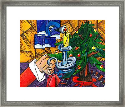 Picasso Style Christmas Tree - Cover Art Framed Print by E Gibbons