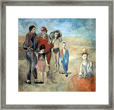 Picasso's Family Of Saltimbanques Framed Print by Cora Wandel