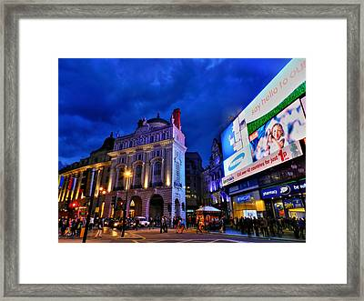 Piccadilly Circus 002 Framed Print by Lance Vaughn