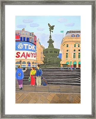 London- Piccadilly Circus Framed Print by Magdalena Frohnsdorff