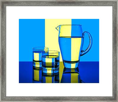 Pichet Et Verres Framed Print by Nikolyn McDonald