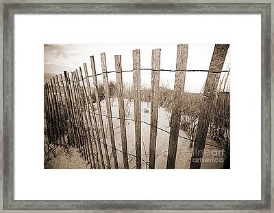 Picket Line Framed Print by A New Focus Photography