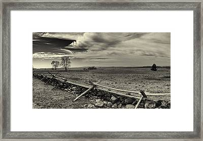Picketts Charge The Angle Black And White Framed Print by Joshua House