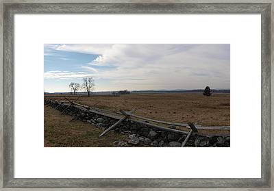 Picketts Charge The Angle Framed Print by Joshua House