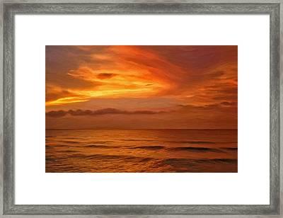 Picketts Harbor Sunset Framed Print by Michael Pickett
