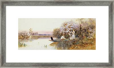 Picking Blossoms Framed Print by Thomas James Lloyd