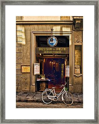 Pickup Or Delivery Framed Print by Mick Burkey