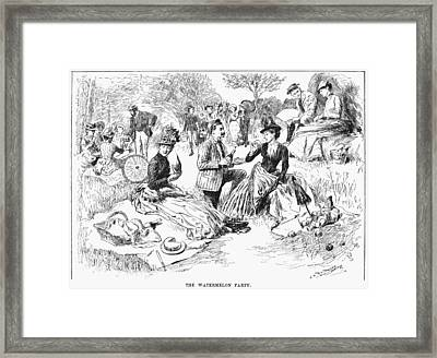 Picnic, 1886 Framed Print by Granger