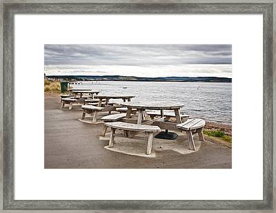 Picnic Tables Framed Print by Tom Gowanlock