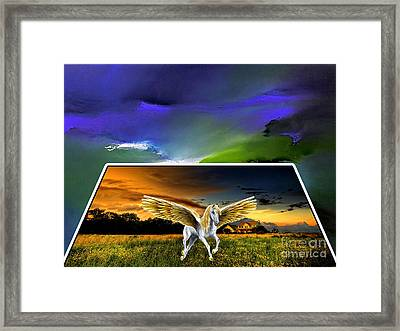 Picture A Pegasus Framed Print by Marvin Blaine