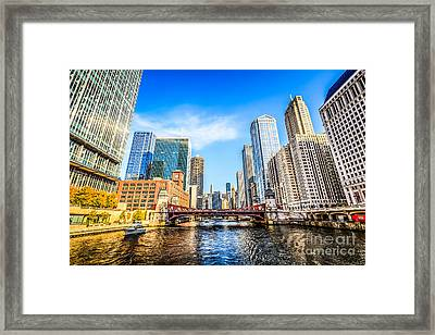 Picture Of Chicago At Lasalle Street Bridge Framed Print by Paul Velgos