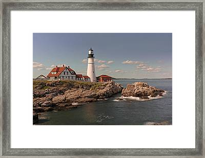 Picturesque Portland Head Light Framed Print by Juergen Roth