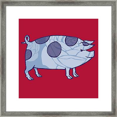 Piddle Valley Pig Framed Print by Sarah Hough