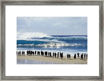 Pipe Shadow Land Framed Print by Sean Davey