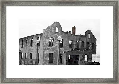 Pieces Of Alcatraz Island Framed Print by Cheryl Young