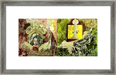 Pieces Of Self Framed Print by Claire Mack