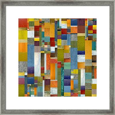 Pieces Parts Vl Framed Print by Michelle Calkins