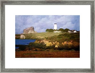 Piedras Blancas Lighthouse Framed Print by Donna Kennedy