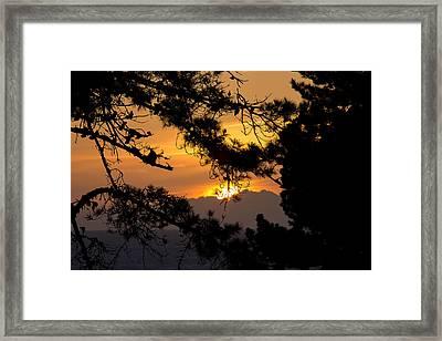 Piedras Blancas Sunset Framed Print by Jose M Beltran