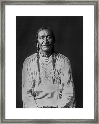 Piegan Indian Man Circa 1910 Framed Print by Aged Pixel