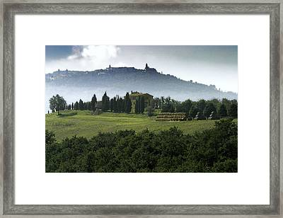 Pienza Tuscany Framed Print by Al Hurley