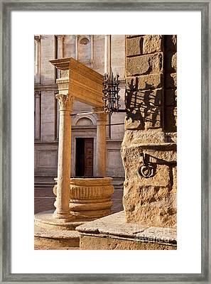 Pienza Tuscany Framed Print by Brian Jannsen